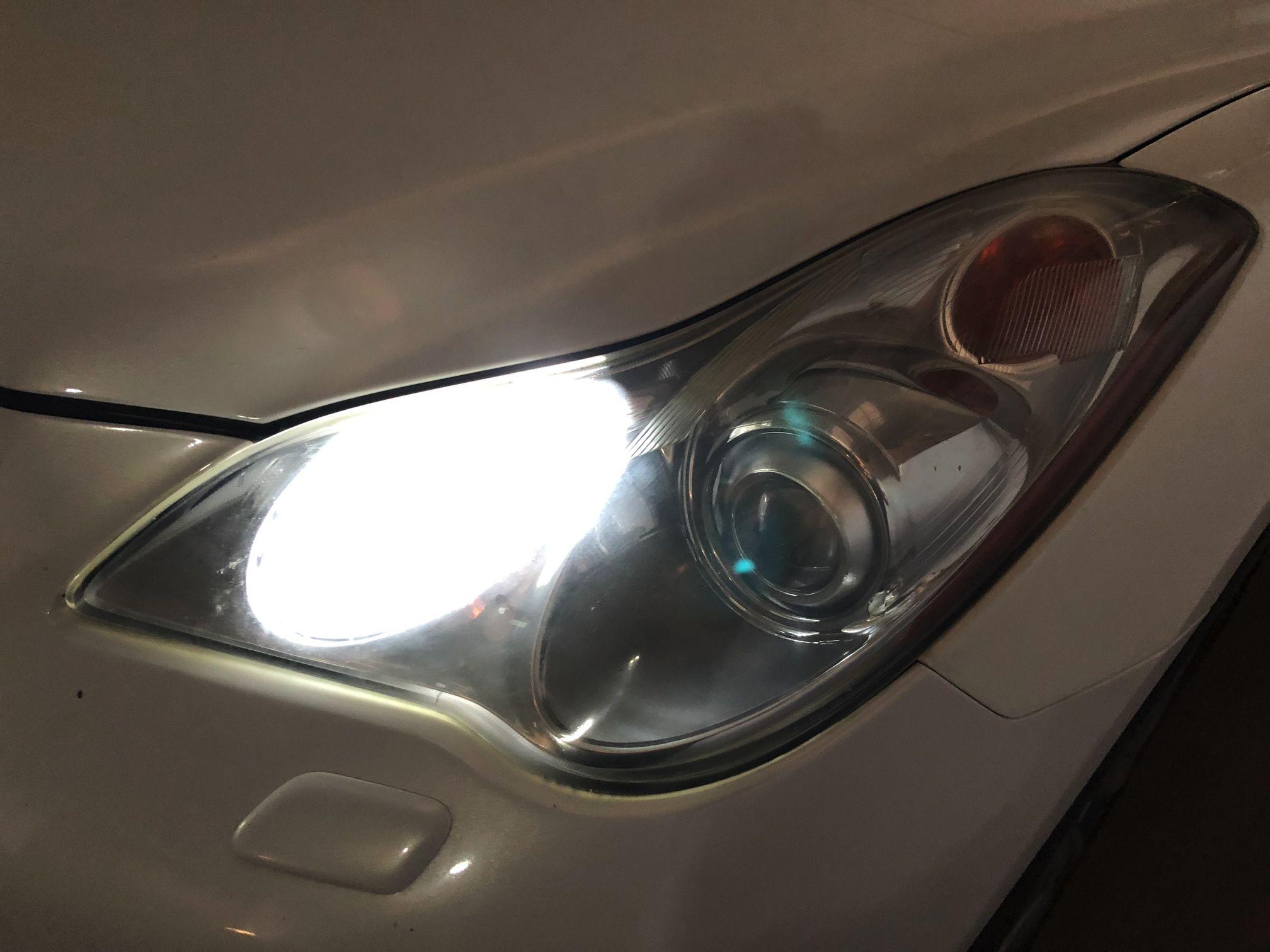 Infiniti EX35 лампы габаритов светодиоды