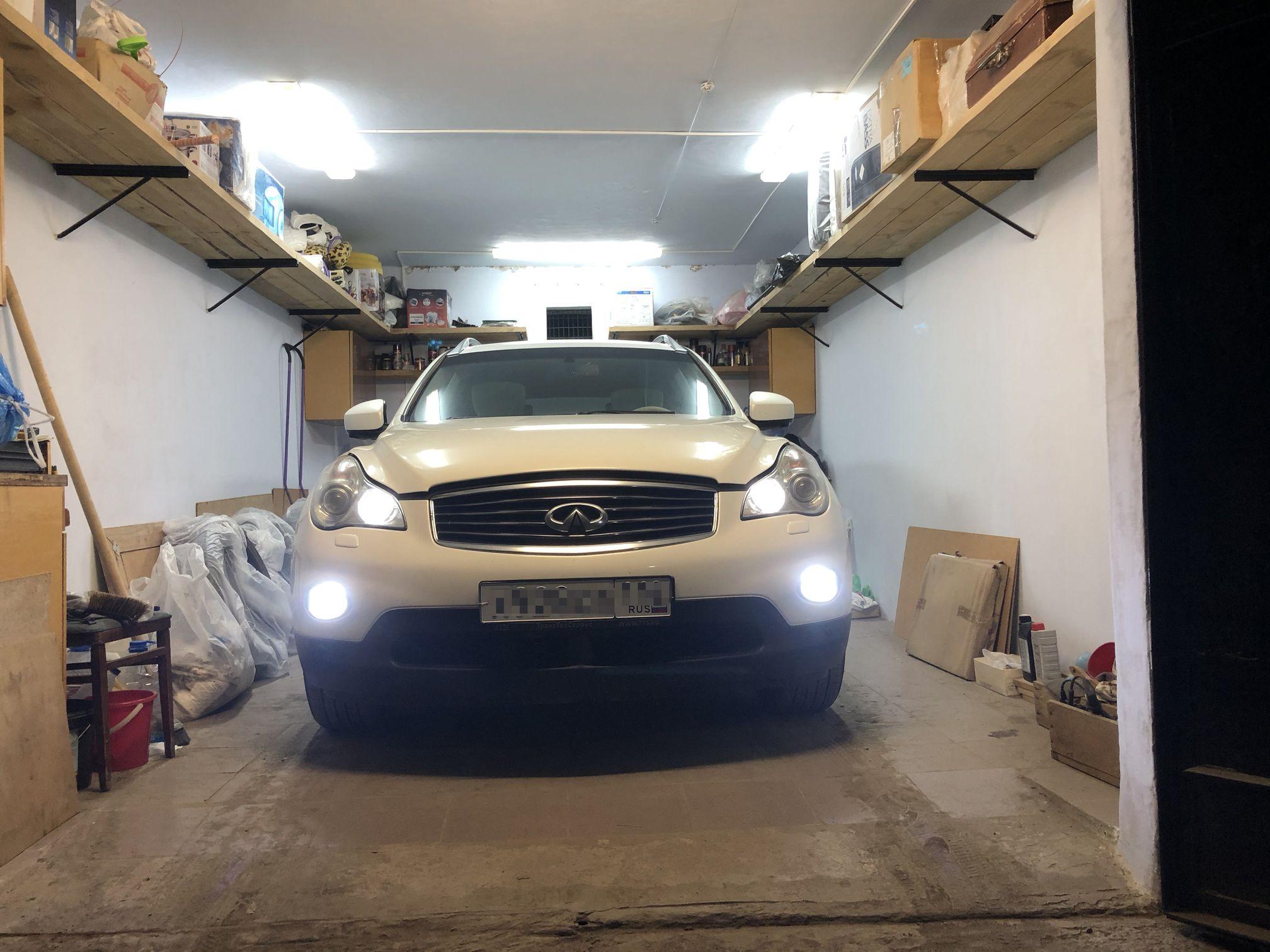 Infiniti EX35 светодиодные ПТФ