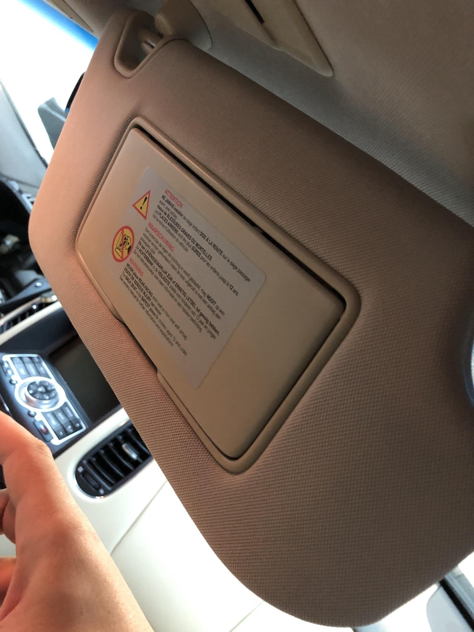 Солнцезащитный козырек пассажирский Infiniti EX35